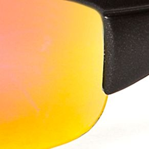 Athlix: Oxford-Black/Red Athlix Mirror Sports Wrap Sunglasses