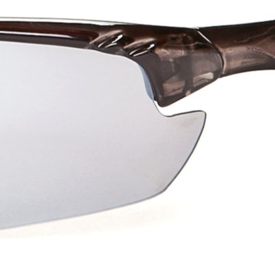 Athlix: Smoke-Black / Black Athlix Semi-Rimless Sports Wrap Sunglasses