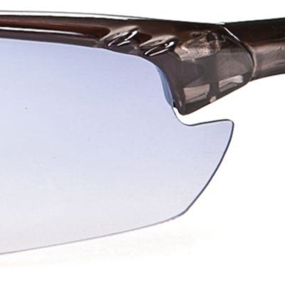 Athlix: Blue Grey Athlix Semi-Rimless Sports Wrap Sunglasses
