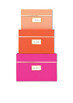 kate spade new york® Neon Nesting Box Set of 3