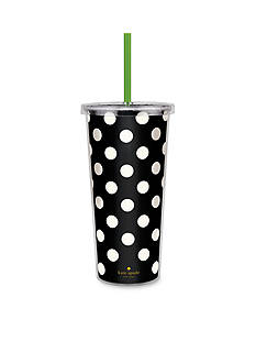 kate spade new york® Black Dots Insulated Tumbler