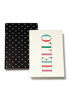 kate spade new york Black Dots/Hello Notebook Set