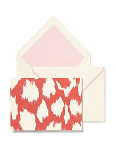 kate spade new york Coral Painterly Cheetah Notecard Set