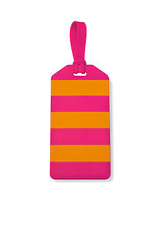 kate spade new york Orange and Pink Petula Stripe Luggage Tag