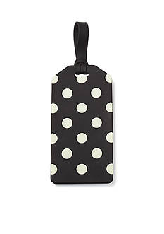 kate spade new york Black Dots Luggage Tag in Le Pavilion