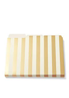 kate spade new york Gold Stripe File Folders