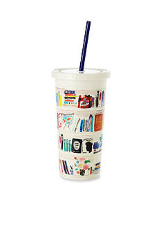 kate spade new york Bella Bookshelf Insulated Tumbler with Straw