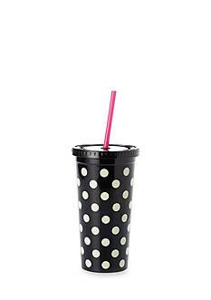 kate spade new york Black Deco Dots Tumbler, 20 oz.