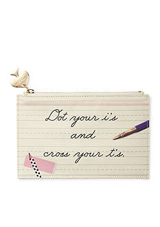kate spade new york Dot Your Is Pencil Pouch With Bridge Pencils