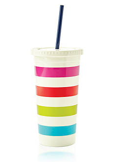 kate spade new york Candy Stripe Tumbler with Straw