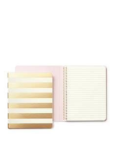 kate spade new york Gold Stripe Concealed Spiral Notebook