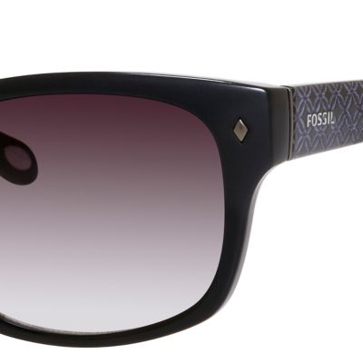 Fashion Sunglasses: Black Fossil Women's Rectangular Sunglasses