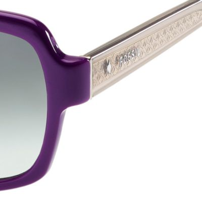 Women: Fossil Accessories: Purple Gradient Fossil Large Oval Sunglasses