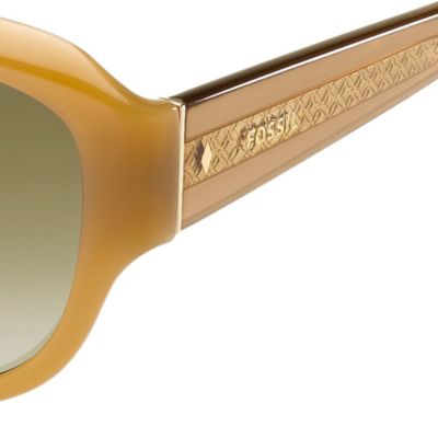 Women: Fossil Accessories: Tan Gradient Fossil Oval Sunglasses