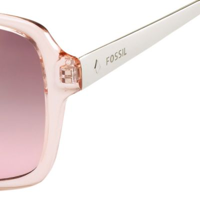 Womens Sunglasses: Rose Mirror Gradient Fossil Oval Combo Sunglasses