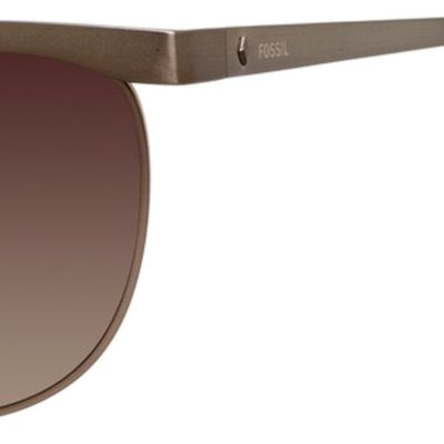 Women: Fossil Accessories: Brown Gradient Fossil Aviator Sunglasses