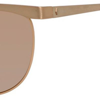 Cat Eye Sunglasses: Brown Rose Mirror Fossil Aviator Sunglasses