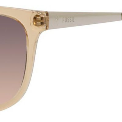 Women: Fossil Accessories: Smoke Tan Fossil Crystal Plastic Anne Hall Sunglasses