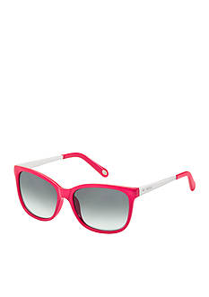Fossil Crystal Plastic Anne Hall Sunglasses