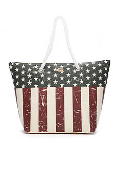 Kim Rogers American Flag Beach Tote Bag