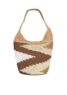 Kim Rogers Aztec Straw Hobo Bag