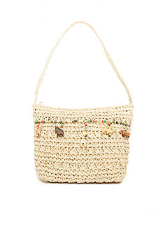 Kim Rogers Straw Animal Shoulder Bag