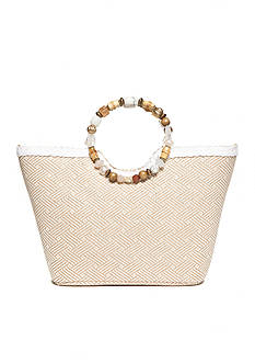 Kim Rogers Beaded Ring Tote