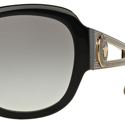 Square Sunglasses: Black Versace Vintage Vanitas Square Sunglasses