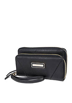 Kenneth Cole Reaction Zip Code Double Zip Wallet