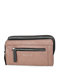 Kenneth Cole Reaction Double Zip Clutch Wallet