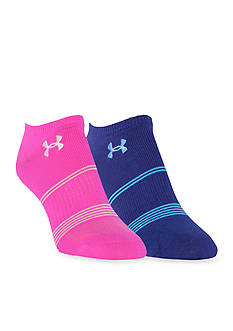 Under Armour Grippy III No Show Sock 2-Pack