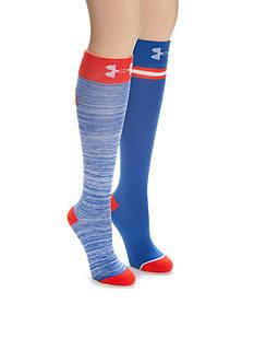 Under Armour USA Twist Knee High Socks - 2 Pack