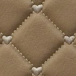 Satchel: Natural Luv Betsey Quilted Heart Dome Satchel