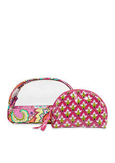 Vera Bradley Clear Cosmetic Duo Case