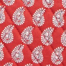 Designer Tote Bags: Petite Red Bandana Vera Bradley Small Trimmed Vera Tote