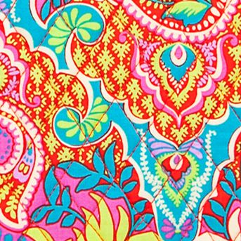 Handle and Tote Bags: Paisley Paradise Vera Bradley Small Trimmed Vera Tote