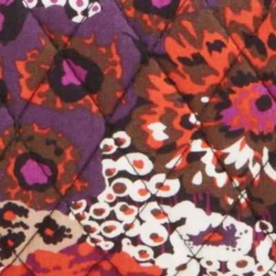 Handbags and Wallets: Rosewood Vera Bradley Signature Front Zip Wristlet