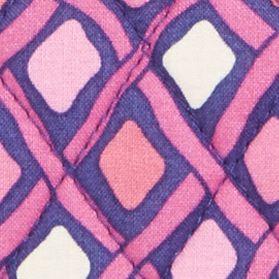 Handbags and Wallets: Katalina Pink Diamonds Vera Bradley Medium Cosmetic Bag