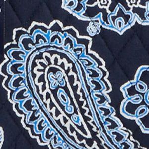 Handle and Tote Bags: Blue Bandana Vera Bradley Signature Villager Tote