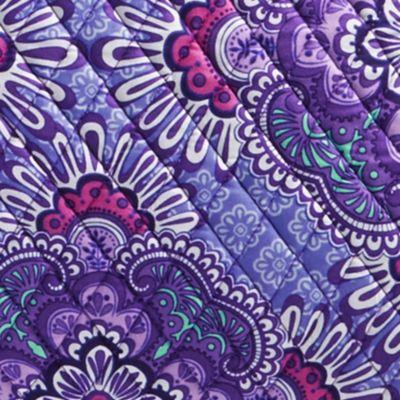Designer Handbags: Lilac Tapestry Vera Bradley Triple Compartment Travel Bag