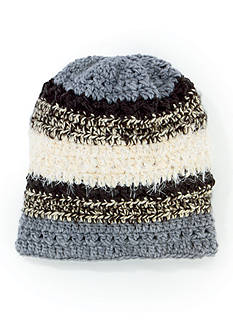 San Diego Hat Company Mixed Yarn Striped Beanie Hat