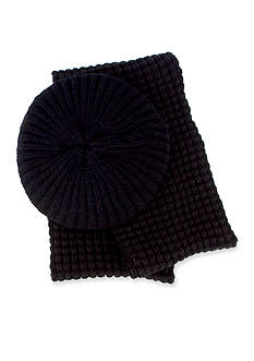 San Diego Hat Company Beret and Knit Scarf Set