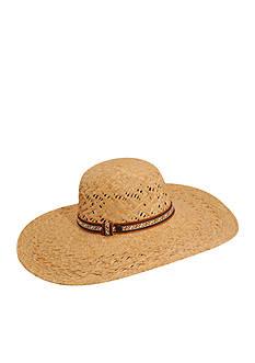 Karen Kane Wide Brim Raffia Floppy Hat