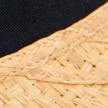 Handbags & Accessories: Karen Kane Accessories: Natural/Navy Karen Kane Raffia Visor