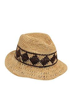 Karen Kane Raffia Aztec Trillby Hat