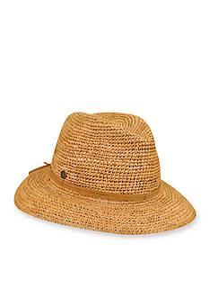 Karen Kane Crochet Raffia Fedora Hat