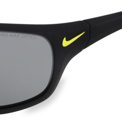 Nike: Black/Green Nike Rabid Volt Sunglasses