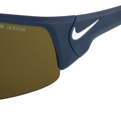 Rectangle Sunglasses: Matte Black/Tan Nike Skylon Ace XV Magnet Sunglasses