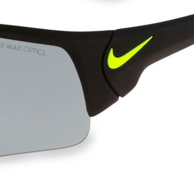 Rectangle Sunglasses: Black/Green Nike Skylon Ace XV Magnet Sunglasses