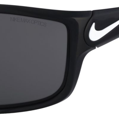 Rectangle Sunglasses: Black/White Nike Ignition Black Sunglasses